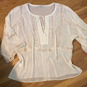 Black Rainn bohemian style blouse XL